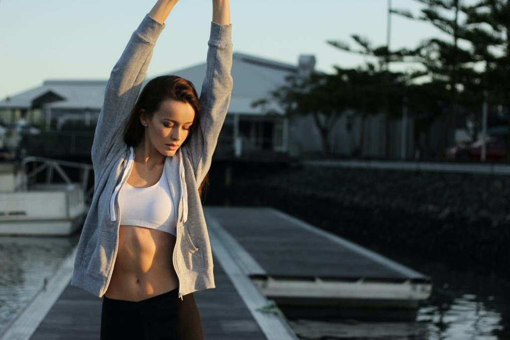 Woman Stretching For Exercise